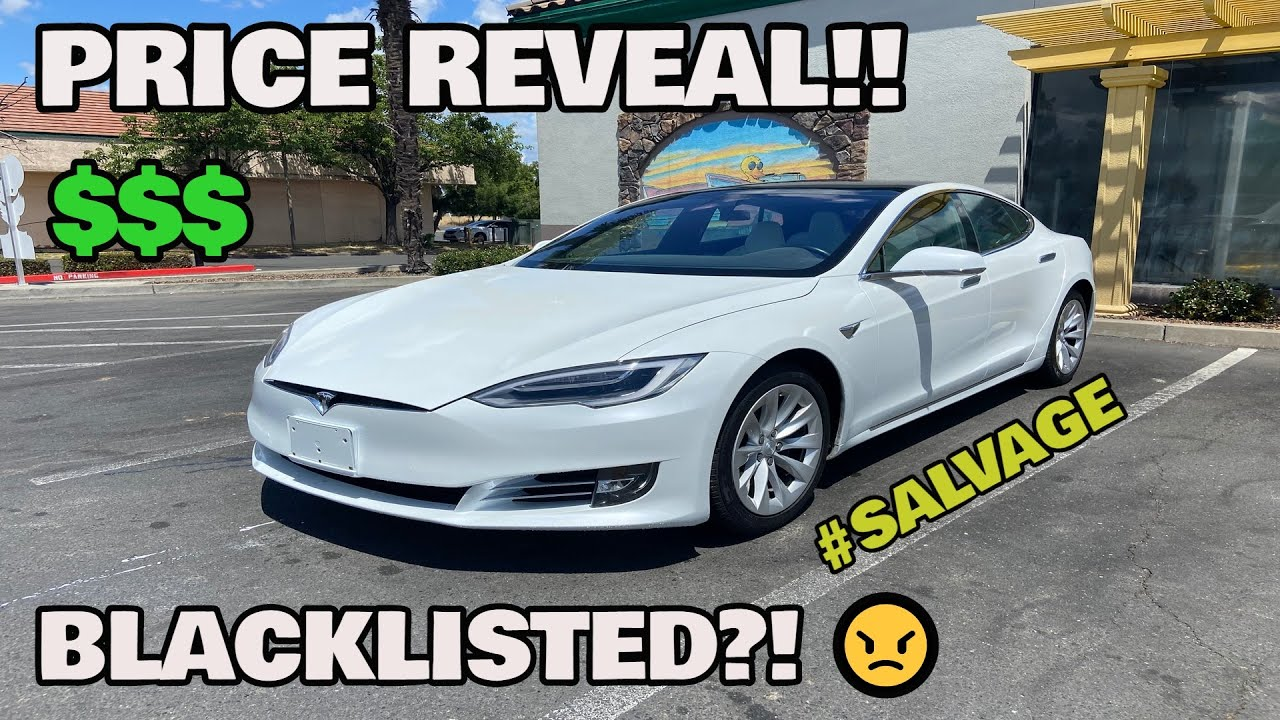 I bought a WRECKED Tesla Model S 100D From COPART and here is the PRICE BREAKDOWN!