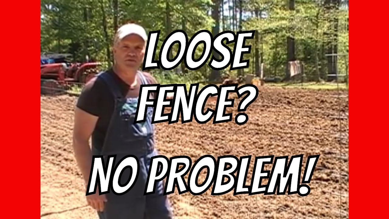 How to tighten fence with nothing but pliers - YouTube