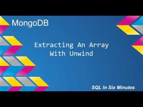 MongoDB: Extracting An Array With Unwind