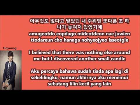 G.O.D - One Candle with Malay   Eng   Han   Rom lyrics