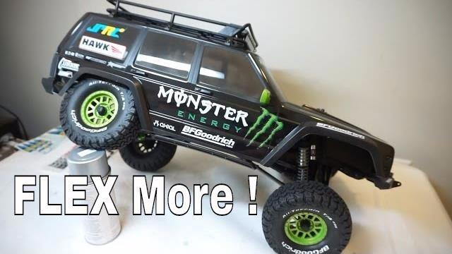 Get More Flex Axial Scx10 Ii Suspension Mod Youtube