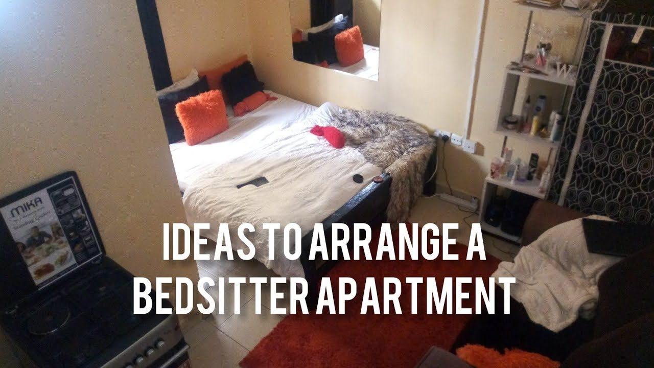 BEDSITTER ARRANGEMENT IDEAS || studio apartment hacks ...