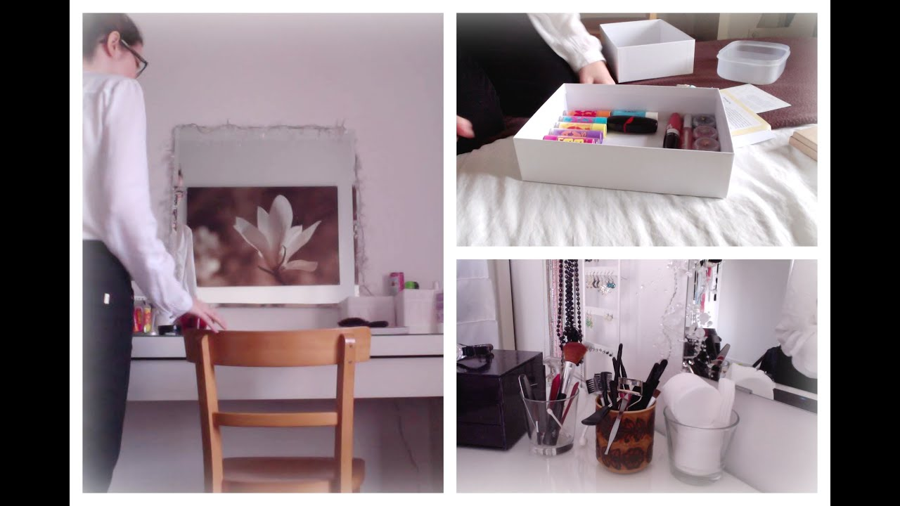 Room inspiration n 1 organiser sa coiffeuse youtube - Comment ranger sa coiffeuse ...