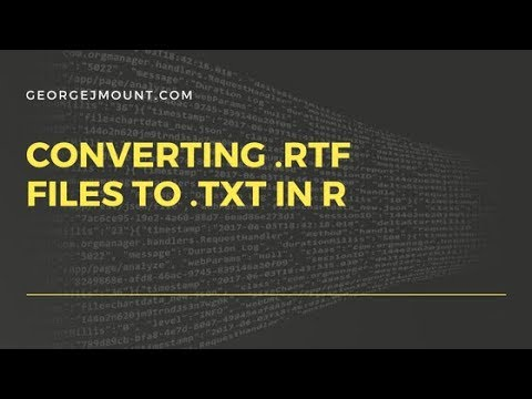 Convert a Folder of  rtf Files to  txt using R's striprtf Package