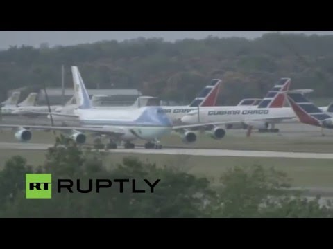LIVE: Barack Obama visit in Cuba: arrival