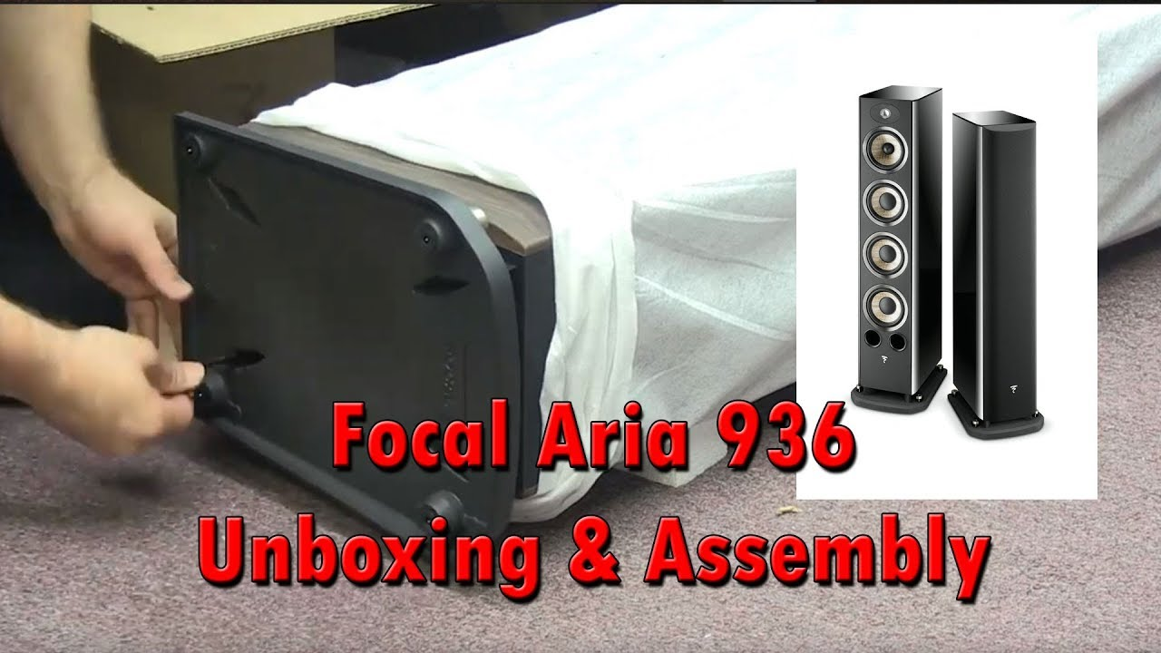 Focal Aria 936 Unboxing and Assembly Dark Walnut Finish II