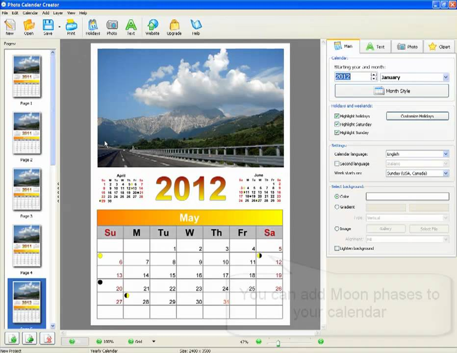 How to Make a Personalized Photo Calendar? - YouTube