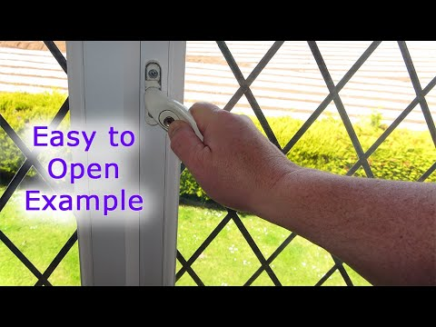 The Handle Moves but the Window wont Open (Easy to open example)