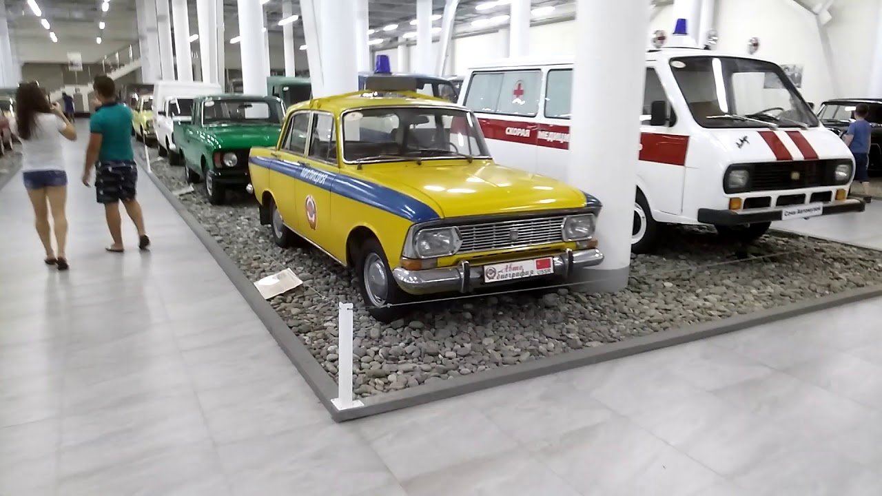 Всички ретро соц автомобили в едно видео! Волга, Победа, Москвич, Жигули, ЗИЛ, ЗИС. Сочи Автомузей