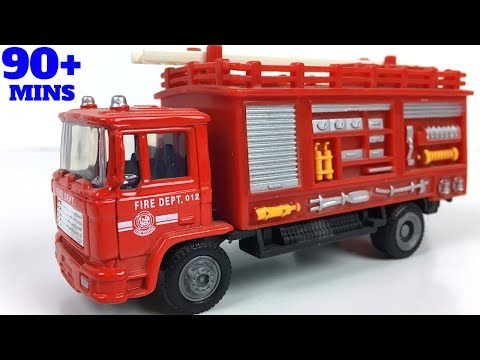 FIRE ENGINE  LADDER TRUCK FIRETRUCK FIREMAN RESCUE HELICOPTER AND MORE FROM FIREMAN ACTION PLAY SET