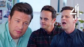 Ant & Dec Admit They Were Scared of Japanese Food | Jamie & Jimmy's Friday Night Feast