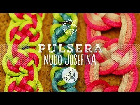 Pulsera de Macramé: Nudo Josefina | Craftingeek*