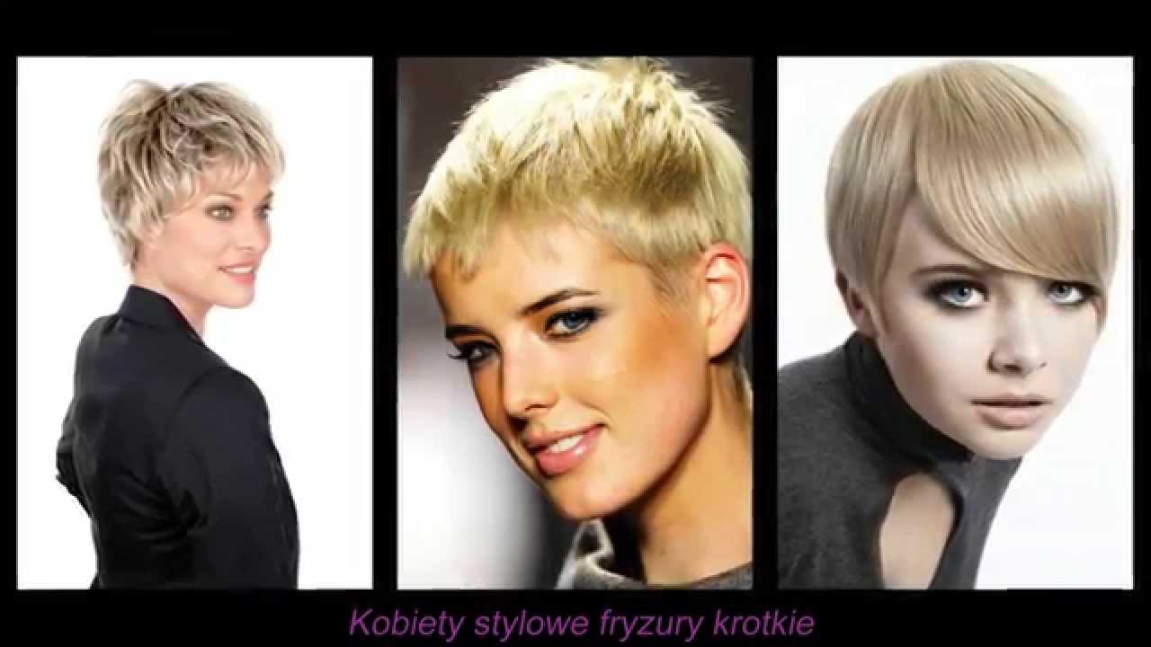 Kobiety Stylowe Fryzury Krótkie