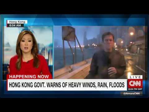 Typhoon Nida shuts down Hong Kong