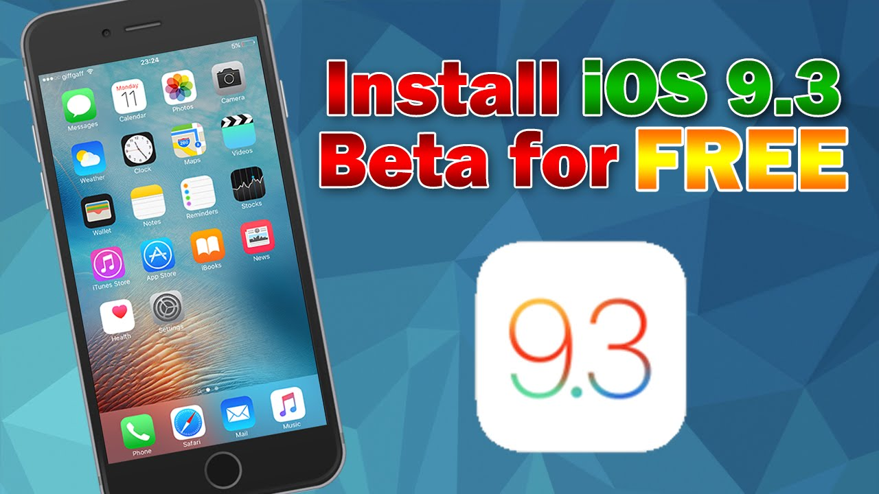 How to Install iOS 9 3 3 Beta 5 for Free (No UDID Activation) iPhone, iPod  touch & iPad