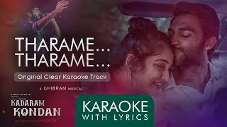Tharame Tharame | Official Karaoke with Lyrics | Kadaram Kondan | Ghibran