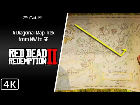 Red Dead Redemption 2 [4K] Full Map trek (NW to SE)