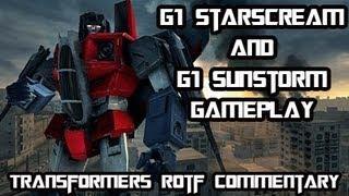 Transformers Revenge Of The Fallen - G1 Starscream & G1 Sunstorm Multiplayer Gameplay Commentary w/ Turtle