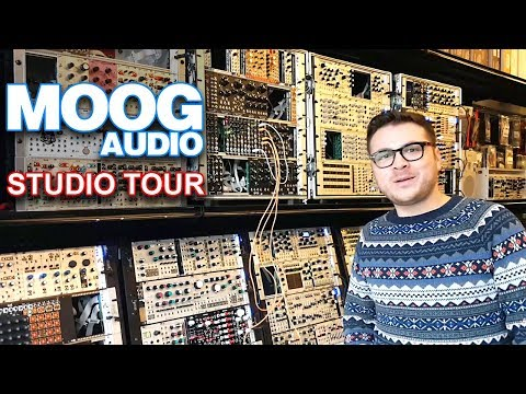 MOOG AUDIO | Store & synth studio tour | Eurorack modular, synthesizers & guitar pedals