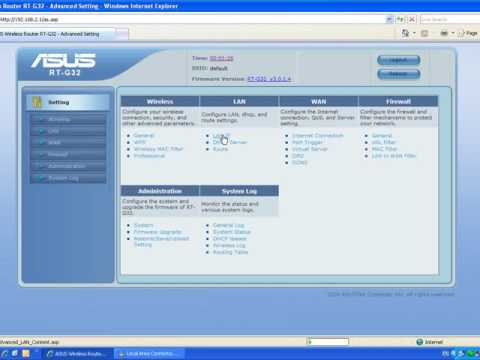 Asus RT-G32 Wireless-G Router Drivers for Windows XP