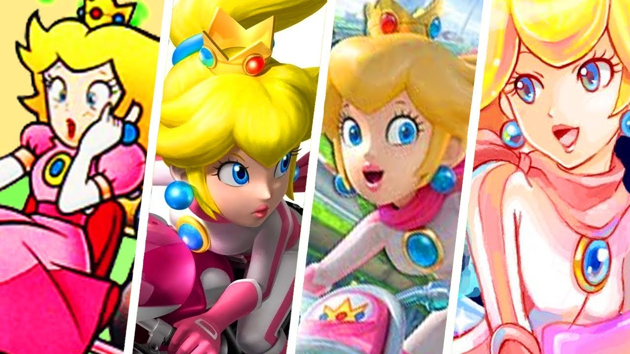Evolution Of Princess Peach In Mario Kart Games 1992 2018