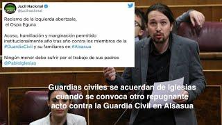 VARAPALO DE GUARDIAS CIVILES A IGLESIAS CON MOTIVO DEL ACTO ANUAL DE ALSASUA