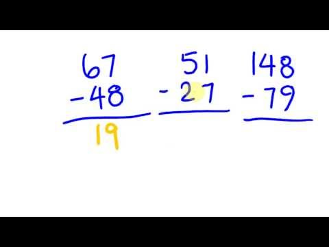 Fast Math Trick To Subtacting Numbers Mentally - Two Digit Numbers