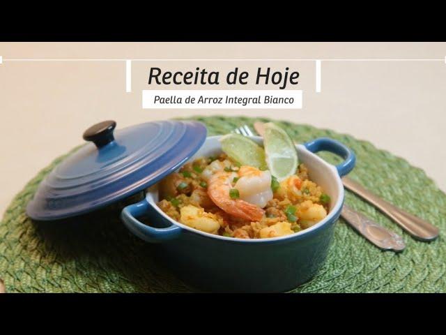 Receitou - Paella de arroz integral Bianco