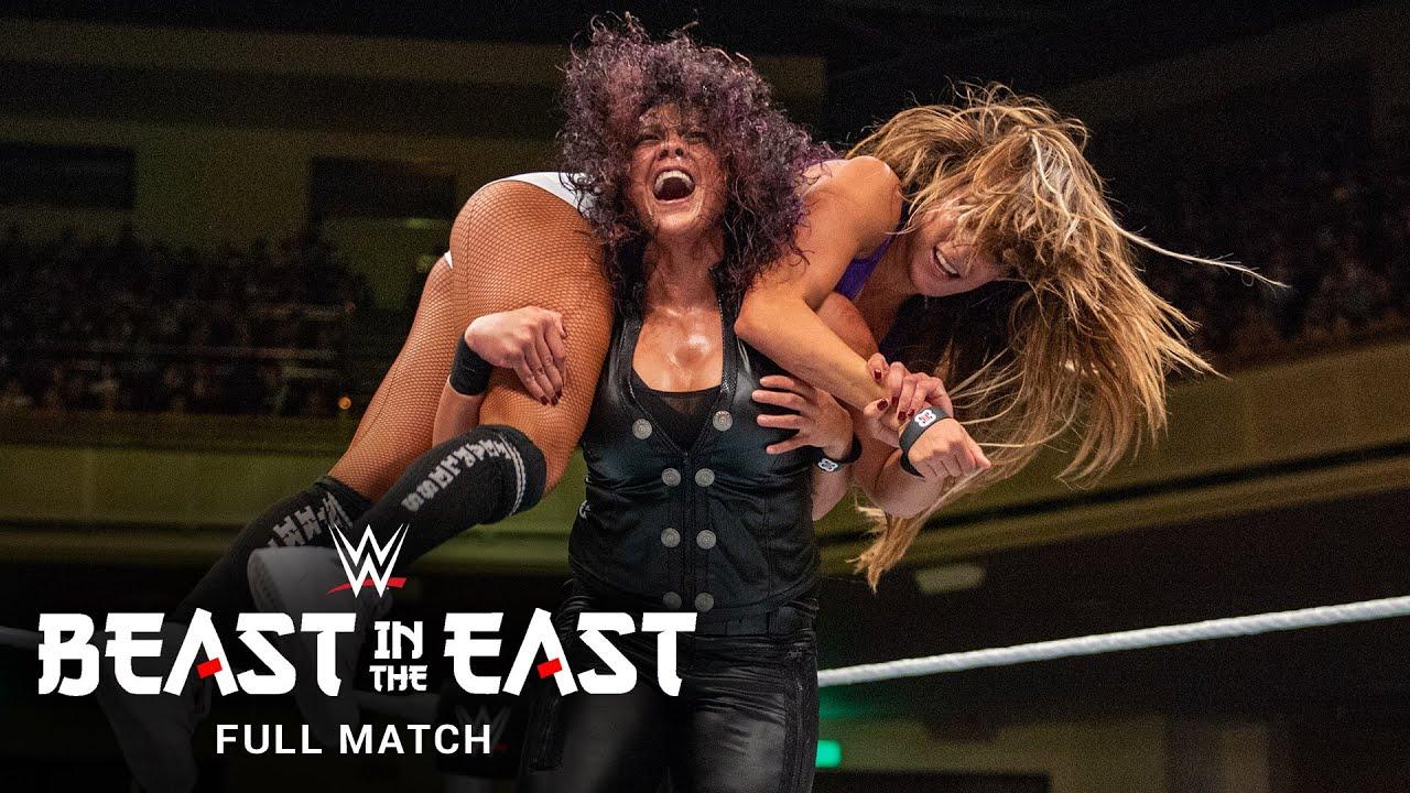 FULL MATCH: Nikki Bella vs. Paige vs. Tamina – Divas Title Match: WWE Beast in the East 2015