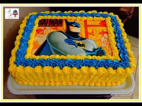 Bolo Do Batman Com Papel De Arroz Youtube