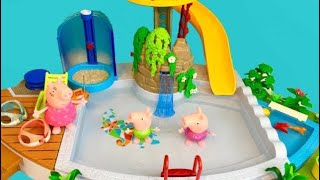 Popular PEPPA PIG Toys Pool Day Learning to SWIM!