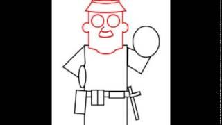 How to draw a cartoon policeman