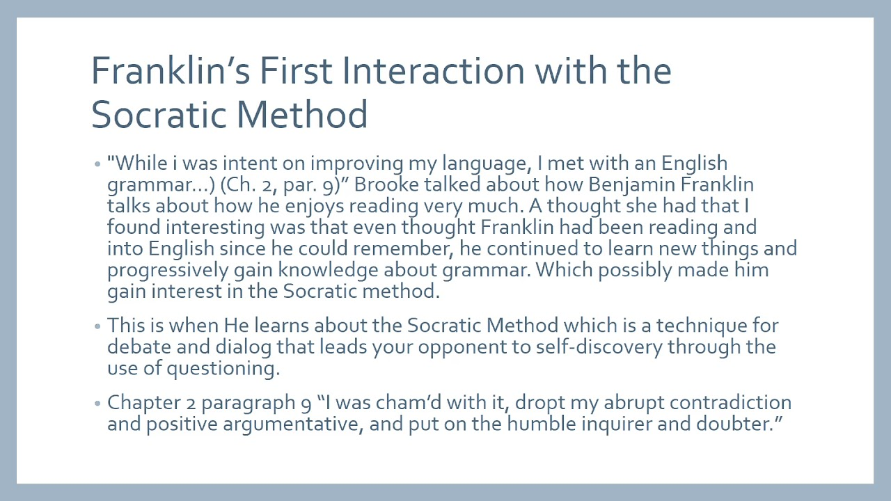 what the socratic method is Socratic method 3 ethics 4 epistemology 5 plato 1 socrates theory of the  soul: socrates believed that he had a mission to seek after wisdom he died  being.