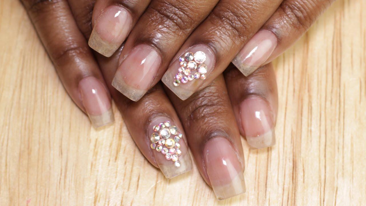 How to: Natural Acrylic Nails | Acrylic Overlay - YouTube