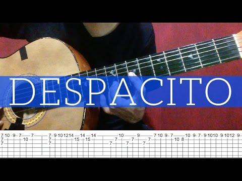 Como tocar Despacito en guitarra (lntro) (Luis Fonsi - Daddy Yankee)