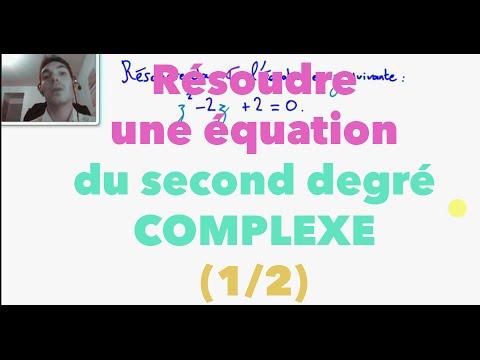 Terminale S Résoudre une équation du second degré complexe ...