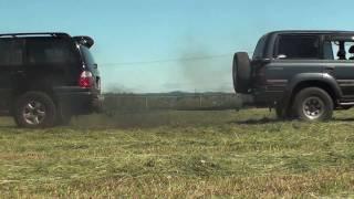 Land Cruiser vs Lexus tug of war!