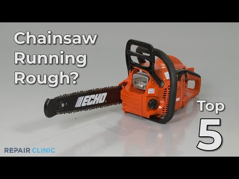"Thumbnail for video ""Chainsaw Running Rough? Chainsaw Troubleshooting"""