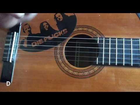 Tutorial: Lied mit Gitarre begleiten mit einfachen Akkorden und leichten Fingerübungen für Anfänger