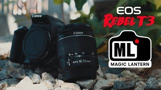 Using a Canon T3/1100D on 2018 | Tutorial - How to Install Magic Lantern