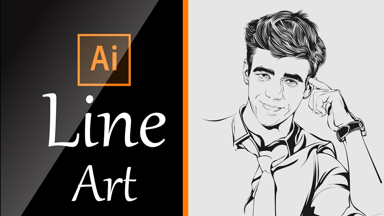 Line Art Adobe Illustrator : The best tutorial to learn line art using adobe