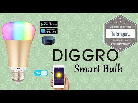 Diggro : Smart Wi Fi Ampoule Dimmable 16 Millions De Couleurs