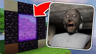 How To Make a Portal to the GRANNY HORROR Dimension in Minecraft Pocket Edition