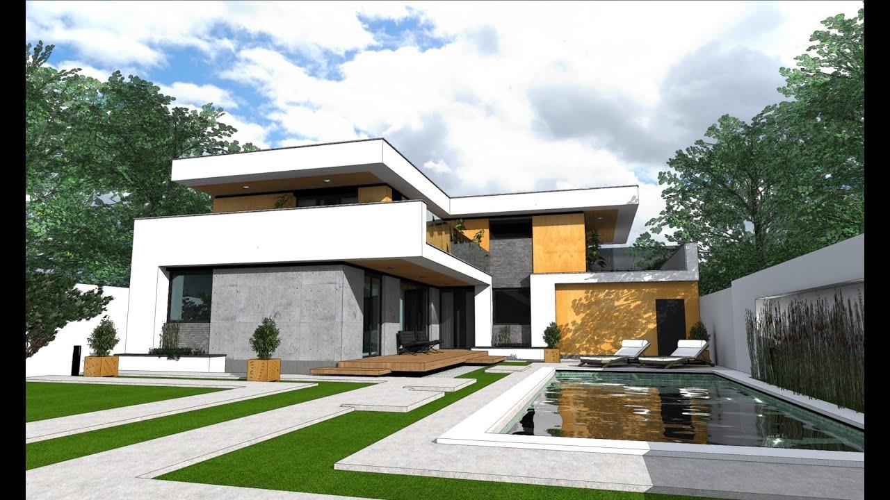 Model proiect casa cu etaj pe05 347 mp arhitect alex cefan for Modele case