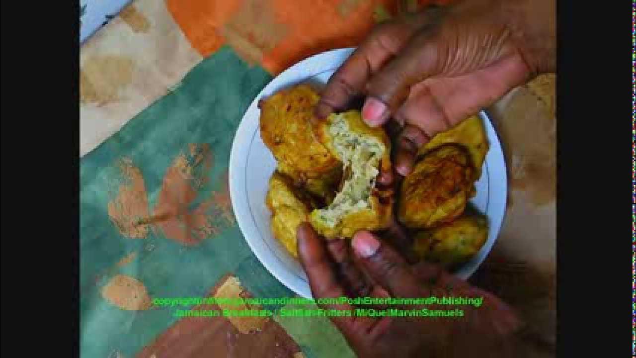 Salt fish or codfish fritters recipe jamaican food hd for Jamaican salt fish