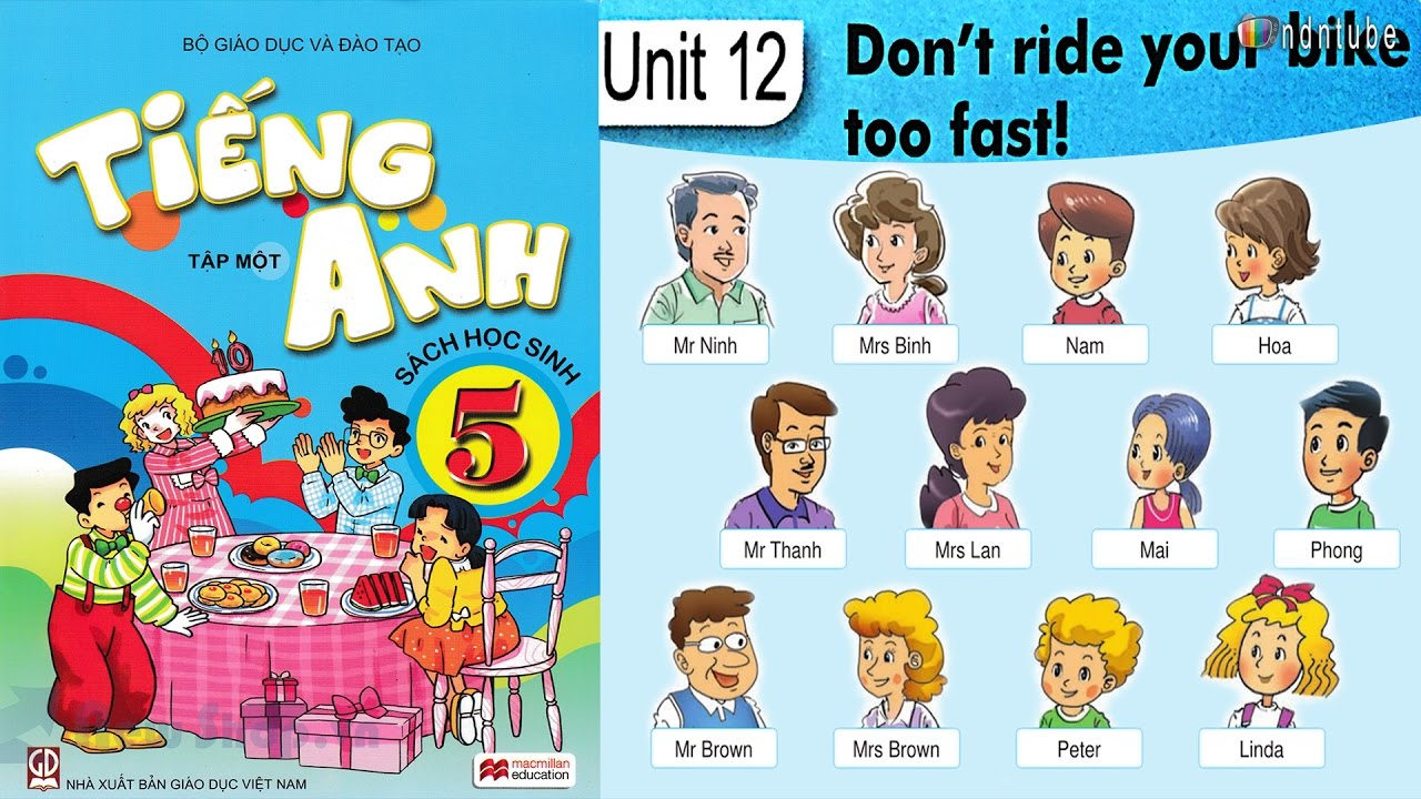 Tiếng Anh Lớp 5: Unit 12 DON'T RIDE YOUR BIKE TOO FAST - FullHD 1080P -  YouTube