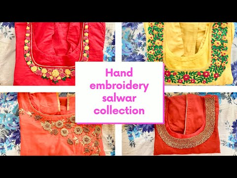 Hand embroidery designs for neck 2019 with price| latest salwar collection