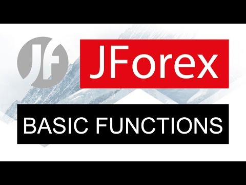 JForex ● Forex/CFD Trading Platform × Basic Functions
