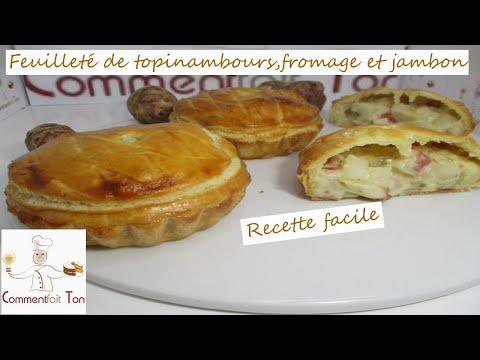feuilleté-de-topinambours,fromage-et-jambon---recette-de-feuilleté-facile