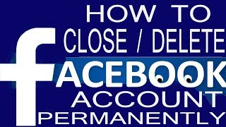 How to Close or Delete Facebook Account Permanently Forever in Hindi
